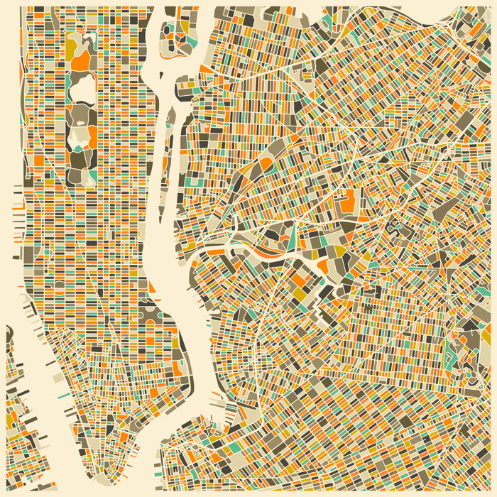 New York Map by Jazzberry Blue