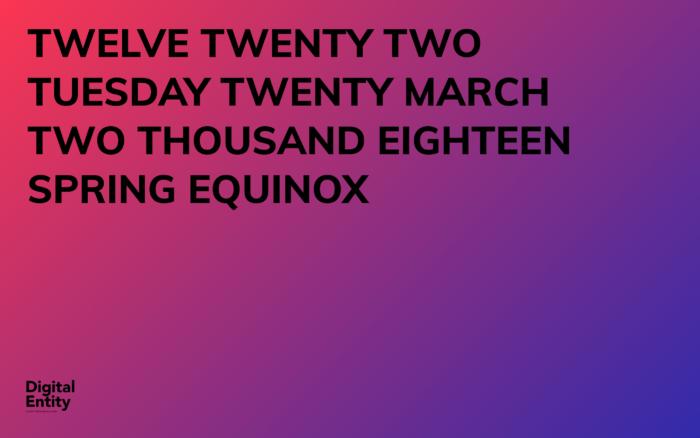 20 march Spring Equinox